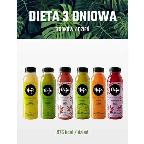 Dieta Sokowa Detoksykująca 3 dniowa / Dieta sokowa / Detoks sokowy