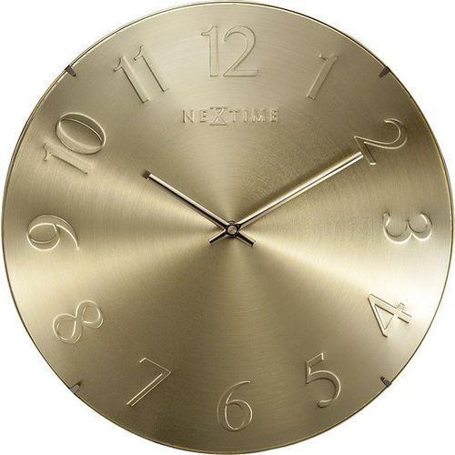 Zegar ścienny Elegant Dome złoty, kolor żółty