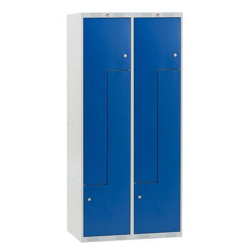 Szafa CLASSIC typu Z, 2 moduły, 4 drzwi, 1740x800x550 mm, niebieski, 313582