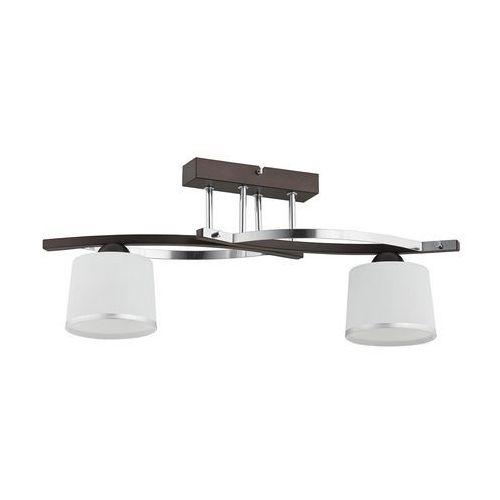 Lemir Plafon lampa sufitowa astred 2x60w e27 chrom/rdza/wenge o2282 w2 rw