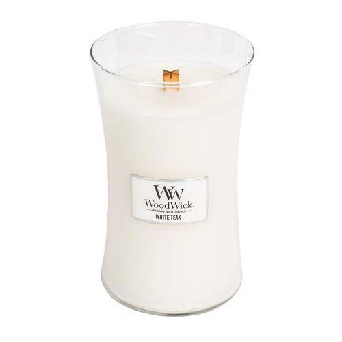 Woodwick - świeca duża white teak 175h