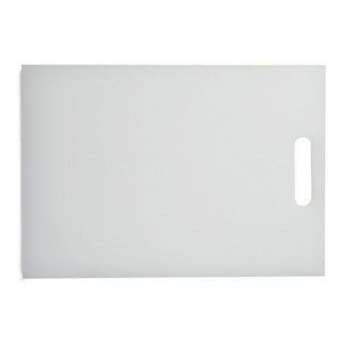 Deska polietylenowa HDPE do krojenia, z uchwytem, biała, wymiary 35,4x25,7x1,2 cm, XANTIA 78564
