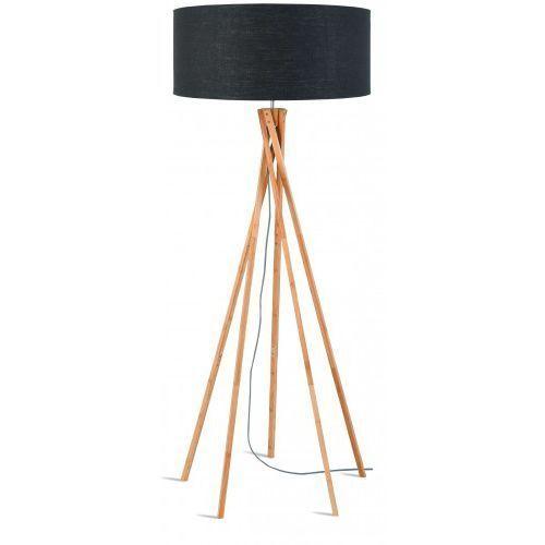 It's about romi Lampa podłogowa kilimanjaro bambus 129cm/ abażur 60x30cm, lniany ciemnoszary