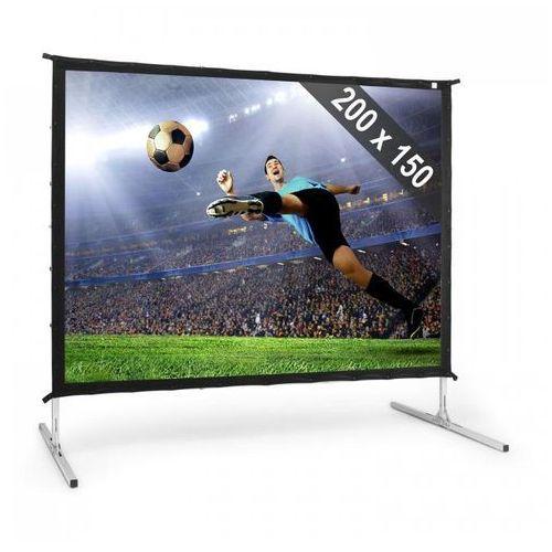 """Frontstage pskc100 elektryczny ekran projekcyjny rozwijany 200x150cm 100"""" 254cm aluminiowa walizka kino domowe"""
