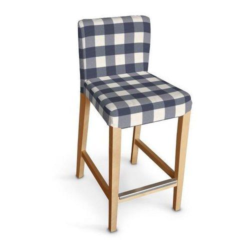 sukienka na krzesło barowe henriksdal krótka, granatowo biała krata (5,5x5,5cm), krzesło barowe henriksdal, quadro marki Dekoria