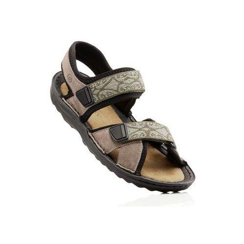 Sandały trekkingowe ze skóry beżowy marki Bonprix