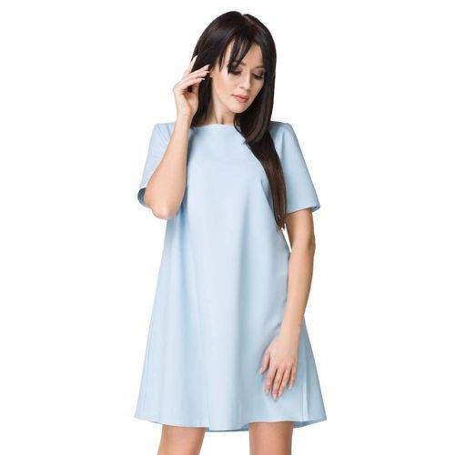 Błękitna Sukienka o Kształcie litery A, T203lbe
