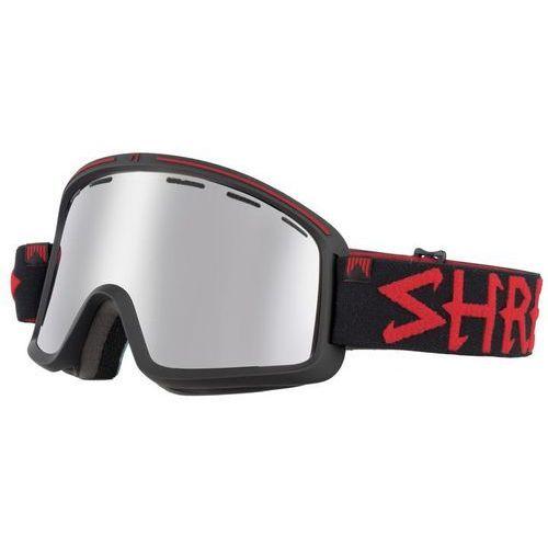 Shred Gogle narciarskie, snowboardowe monocle black/red jw platinium s3