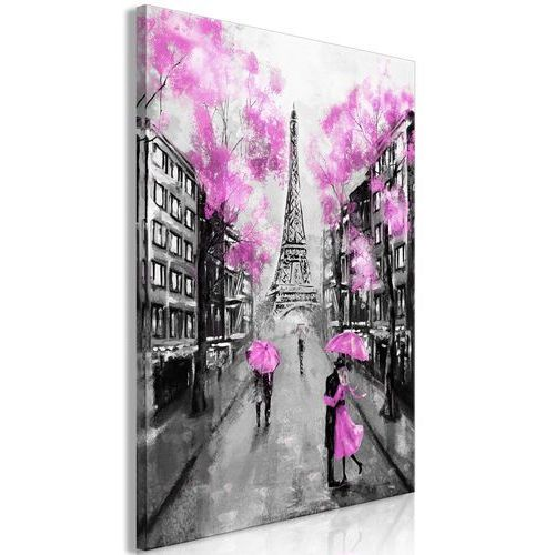 Artgeist Obraz - paryskie rendez-vous (1-częściowy) pionowy różowy