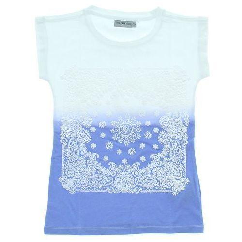 Geox T-shirt dziecięcy Niebieski Biały 5 lat