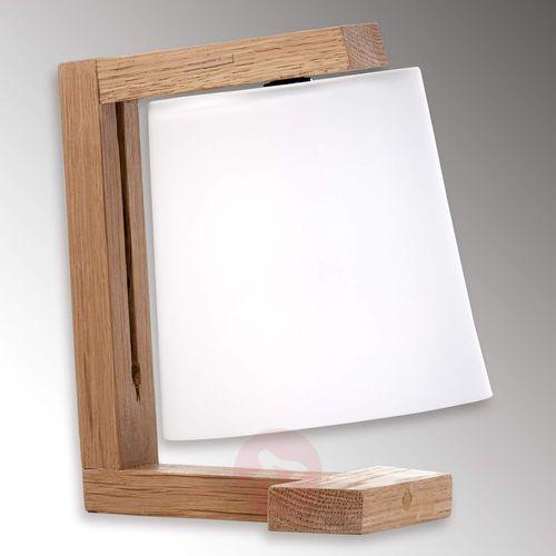 Piękna drewniana lampa stołowa Mona