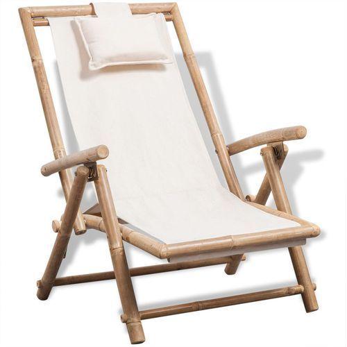 leżak z bambusa marki Vidaxl