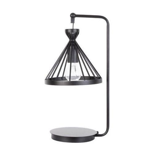 Sigma Lampa stołowa nowum 50156 stojąca lampka metalowa klatka na wysięgniku czarna