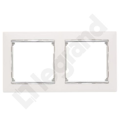 Legrand Valena ramka podwójna pozioma biała/srebro 770492 (3245067704929)