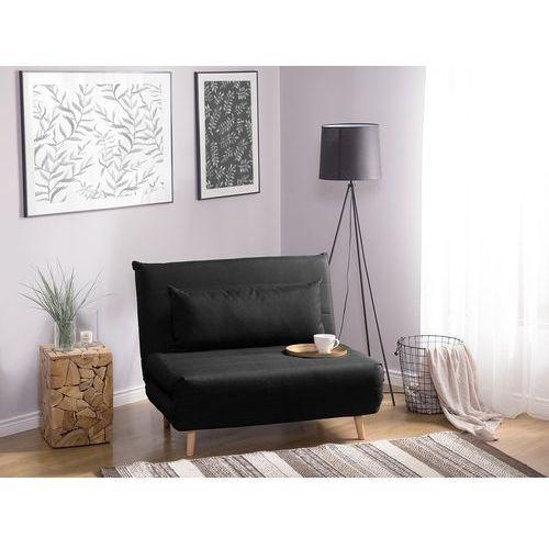 Sofa z funkcją spania czarna setten marki Beliani