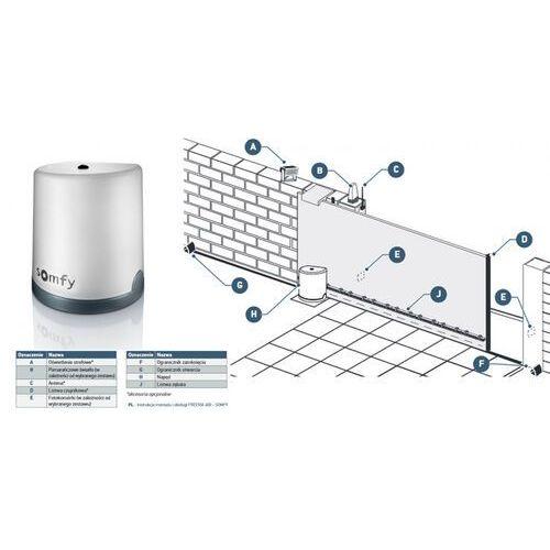 Somfy 2401410 Zestaw do bram przesuwnych Freevia 400 z akcesoriami