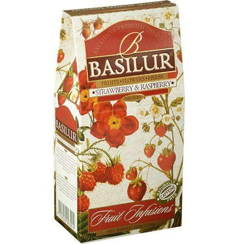 BASILUR 70882 100g Truskawka i Malina herbata owocowa liściasta stożek, kup u jednego z partnerów