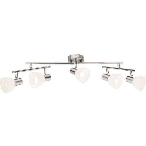 Listwa lampa oprawa sufitowa Globo Enibas 5x40W E14 matowy nikiel/biały 54918-5 (9007371319985)
