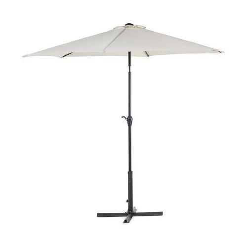 Beliani Parasol ogrodowy Ø270 cm beżowy varese