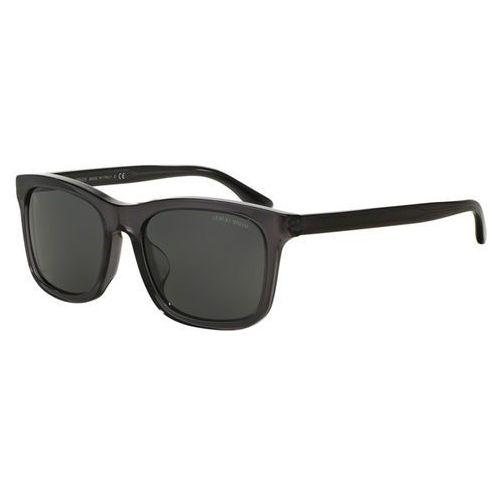 Okulary Słoneczne Giorgio Armani AR8066F Asian Fit 502987, kolor żółty