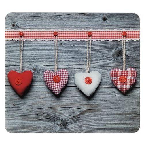 Szklana płyta ochronna HEARTS na kuchenkę – duża, 50 x 56 cm, WENKO