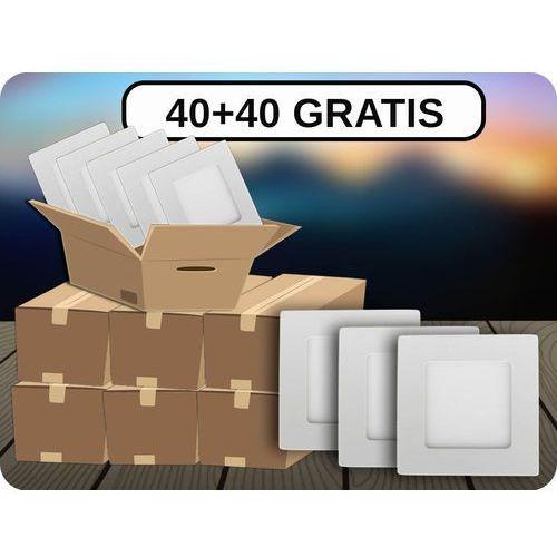 Panel led 12w (1000 lm), 40+40 gratis! + bezpłatna natychmiastowa gwarancja wymiany! neutralna biała 4000k marki V-tac