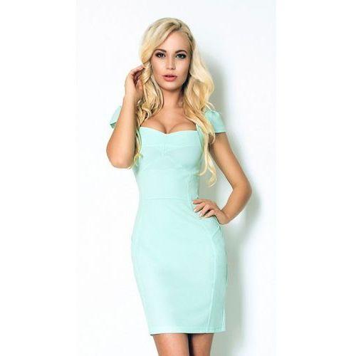 Miętowa sukienka XL, kolor zielony