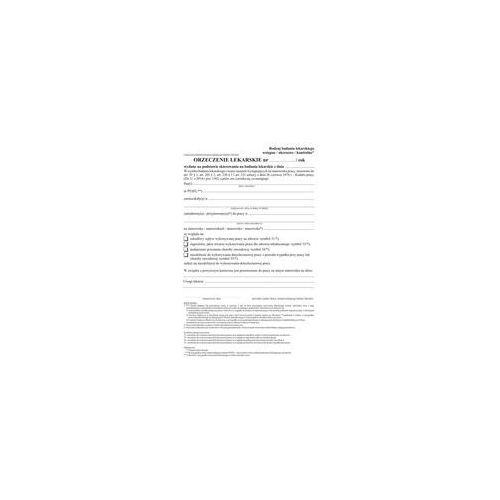 Druk Orzeczenie lekarskie art.55 wiel A5 80k