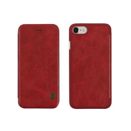 Apple iPhone 8 - etui na telefon Nillkin Qin - czerwone, kolor czerwony