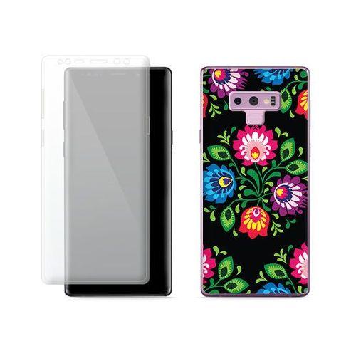 Samsung Galaxy Note 9 - etui na telefon Full Body Slim Fantastic - czarna łowicka wycinanka, kolor czarny