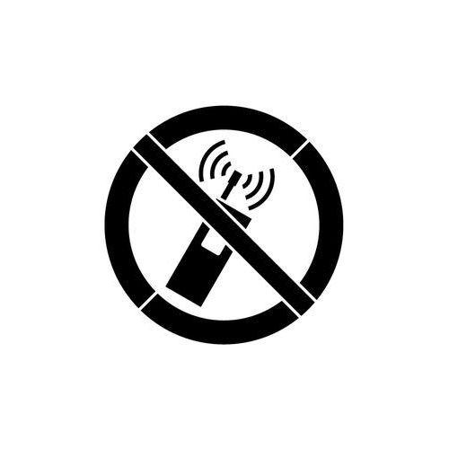 Szablon malarski z tworzywa Znak zakazu używania tel. komórkowych GP013 - 85x85 cm
