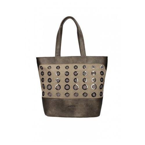 Beżowa torebka z metalowymi kołami - marki Anataka