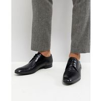 Base London Elgar Leather Derby Shoes in Black - Black