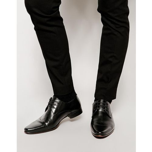 derby shoes in leather - black, Asos