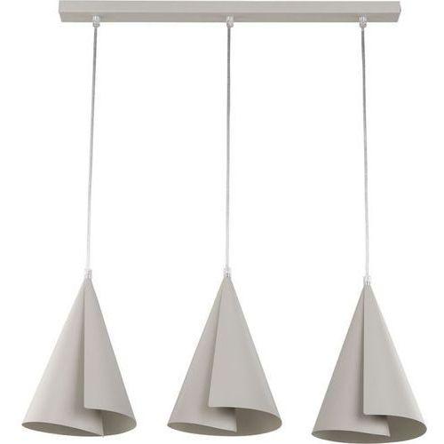 Lampa wisząca Sigma Emu 3 prosta szara do jadalni (5902335261178)