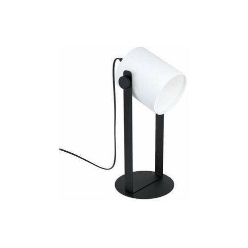 Eglo hornwood 1 43428 lampa stołowa lampka 1x28w e27 czarna/biała