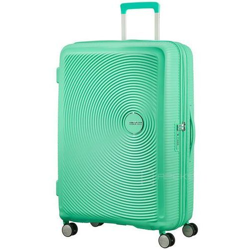 American tourister soundbox walizka duża poszerzana 77 cm / zielona - deep mint