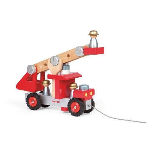 Janod - Wóz strażacki do składania drewniany duży, kup u jednego z partnerów
