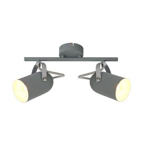 Candellux Listwa lampa sufitowa plafon spot gray 2x40w e14 szara 92-66480
