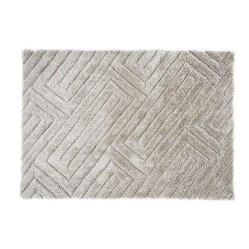 Dywan shaggy maze z efektem 3d – poliester – kolor beżowo-szary – 160 × 230 cm marki Vente-unique