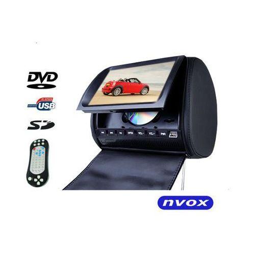 "NVOX JHT9008D BL Zagłówek multimedialny z maskownicą 9"" cali HD DVD USB SD AV IR FM GRY (5901867720832)"