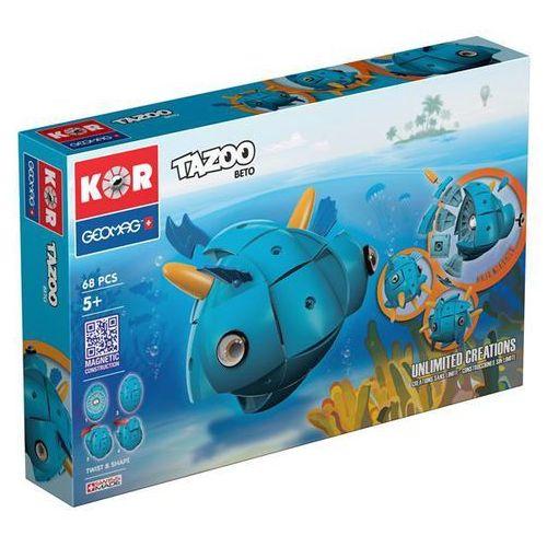 Klocki konstrukcyjne Geomag KOR Tazoo 68 elementów - Beto 871772006015