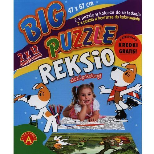 Alexander, Reksio, puzzle dwustronne duże, 2 x 12 elementów