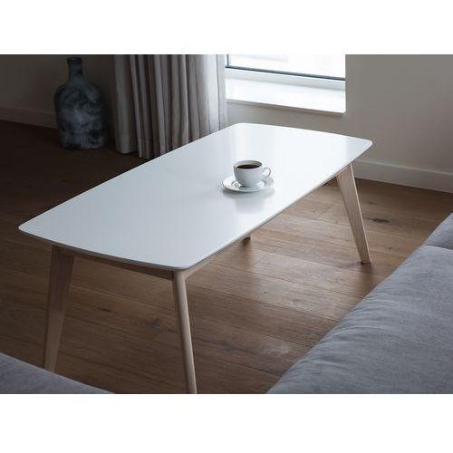 Beliani Stolik kawowy - biały - ława kawowa - stół - do salonu - santos