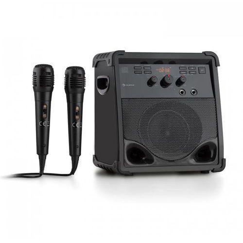 RockStage Zestaw karaoke Bluetooth CD+G USB MP3 Zasilanie bateryjne 2 x mikrofon