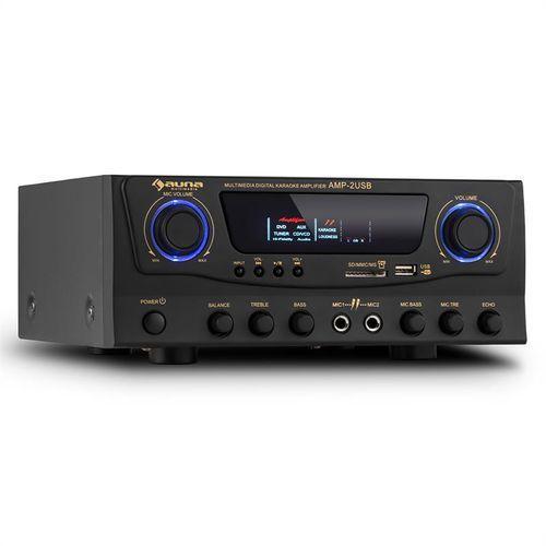 auna Amp-2 Wzmacniacz HiFi Karaoke 100W maks. USB SD MP3