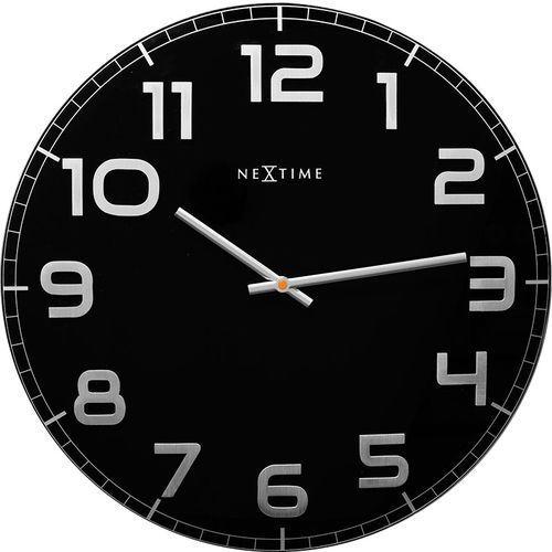 Zegar ścienny Classy okrągły Nextime 50 cm, czarny (3105 ZW) (8717713012221)