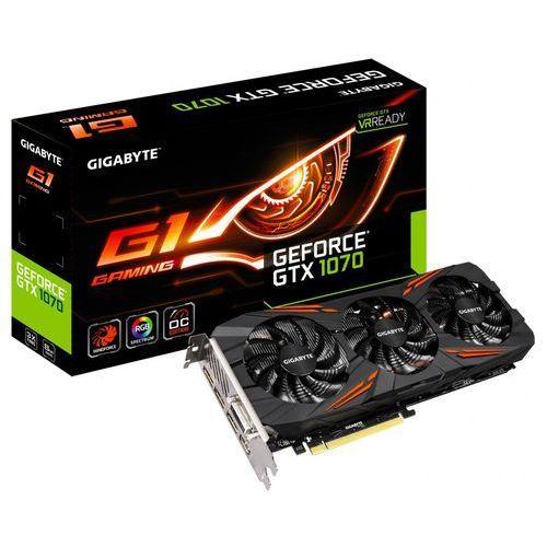 Karta graficzna Gigabyte GeForce® GTX 1070 8192MB GDDR5 256b PCI-E x16 v. 3.0 (1594MHz/8008MHz) GV-N1070G1 GAMING-8GD - Natychmiastowa wysyłka kurierska!