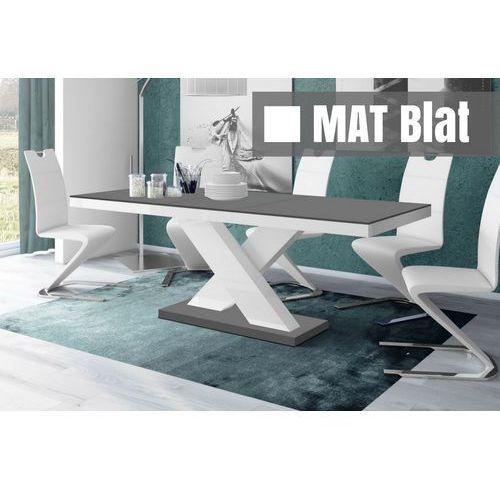 Stół rozkładany Xenon szaro-biały SUPER MAT