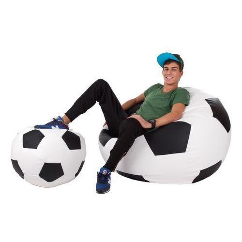 Polskie pufy , pufa football - piłka - zestaw xxxl+l